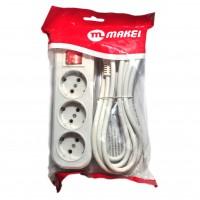 Электро удлинитель ( 3 ) длина 3 м MAKEI