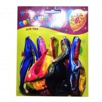 Воздушный надувной шарик Карновалия ( 5шт)  узор Радуга