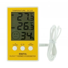 Термометр гигрометр  электронный арт DC 105  ( 2  температуры + влажность)