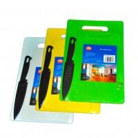 Набор из 2 пластиковых  досок + нож