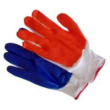 Перчатка  стрейчевая с нитриловым покрытием(Синяя)