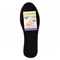 Стелька для обуви материал Латекс черная размеры 36 - 46