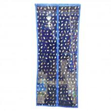 Дверная антимоскитная сетка на магнитах  90*210 см  с узорами
