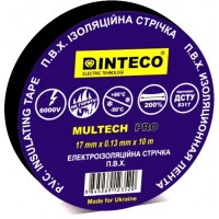 Изолента ЧЕРНАЯ  10M    INTECO  MULTECH PRO  ( Электроизоляционная лента Интеко)