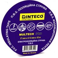 Изолента СИНЯЯ  10M   INTECO  MULTECH PRO  ( Электроизоляционная лента Интеко)