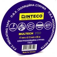 Изолента СИНЯЯ 50м   INTECO  MULTECH PRO  ( Электроизоляционная лента Интеко)