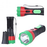 Фонарик ручной 2 LED на батарейках Факел арт 8288