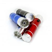 Фонарик на батарейках  8 LED + Лазерь ( LASER  ) фонарь металлический