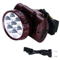 Налобный фонарь ASK 1858 (7 LED ) аккумуляторный светодиодный  ТМ АСК