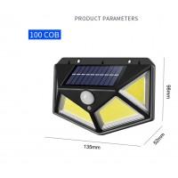 Уличный фонарь  светильник COB 100   с датчиком движения COB