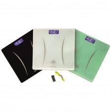 Весы напольные ( LDL  1147 BLACK ) Черные  ( 28 см * 28 см)  электронные до 180 кг