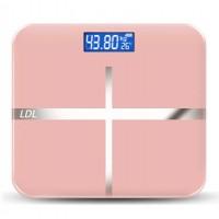 Весы напольные ( LDL  1148 Цветочная Пудра )   ( 28 см * 28 см)  электронные до 180 кг