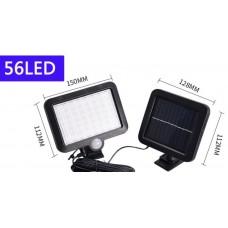 Уличный фонарь 56  LED   с датчиком движения на выносной солнечной батарее