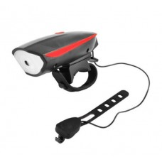 Фонарь велосипедный  USB  7588  аккумуляторный со звуковым сигналом