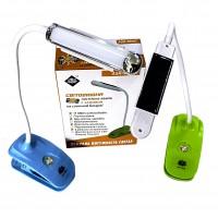 ASK 5868 T  USB Настольная переносная LED лампа прищепка Светильник на солнечной батарее