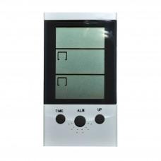 трмометр электронный часы+термометр наруж/внутренн