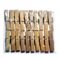 Прищепка Бамбуковая (1*20)  в полиэтиленовой упаковке