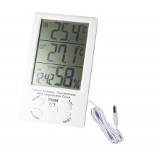Термометр электронный  арт ТА 298  ( 2  температуры+влажность)