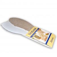Стелька для обуви материал Лен на Латексной основе (Универсальный размер)