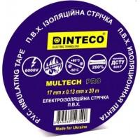 Изолента СИНЯЯ 20м   INTECO  MULTECH PRO  ( Электроизоляционная лента Интеко)