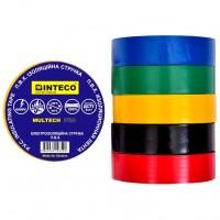 Изолента Разноцветная 20м  INTECO    MULTECH PRO  ( Электроизоляционная лента Интеко)