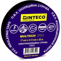 Изолента ЧЕРНАЯ  30м   INTECO  MULTECH PRO  ( Электроизоляционная лента Интеко)
