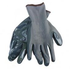 Перчатка прорезиненная СЕРАЯ стрейчевая с нитриловым покрытием