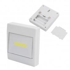 Светодиодный светильник выключатель на стену на магнитах и липучке для крепления
