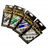 Брелок фонарик - лазер LASER  с карабином 3 в1 арт 503