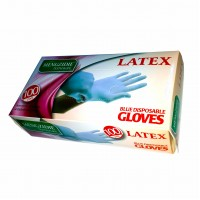 Перчатки латексные опудренные   Latex  ТМ  MENGIDIE  Размер М
