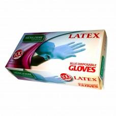 Перчатки латексные опудренные  Latex  ТМ  MENGIDIE  Размер L